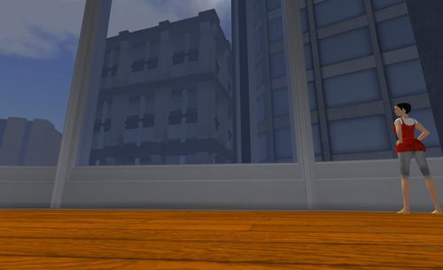Ein Blick auf leerstehende Bürogebäude