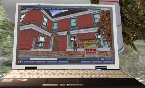 Mit einem Second-Life-fähigen Notebook könnten sich viele Dorfbewohner einen Traum erfüllen: Das Haus der Smiths beziehen.