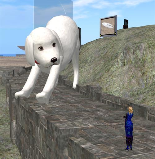 Die wagemutige und äußerst tierliebe Forscherin versucht den Riesenlabrador mit einem Leckerli zu füttern. Aber ob ihm das reicht?